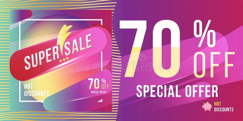 Super Sale 70 Discount Bright Rectangular Poster Format And Flyer