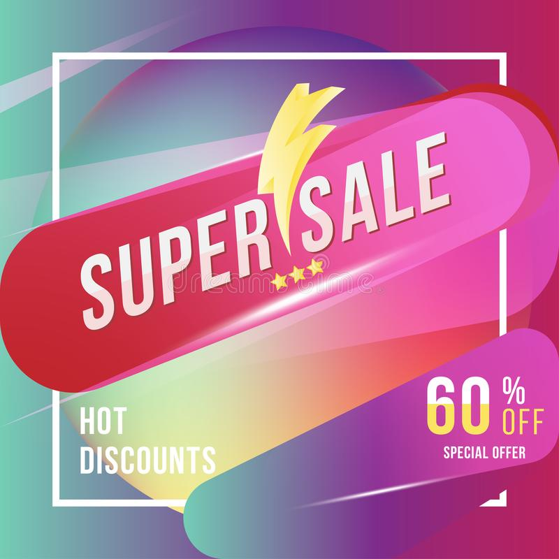 Super Sale 60 Discount Square Poster Format And Flyer Template For