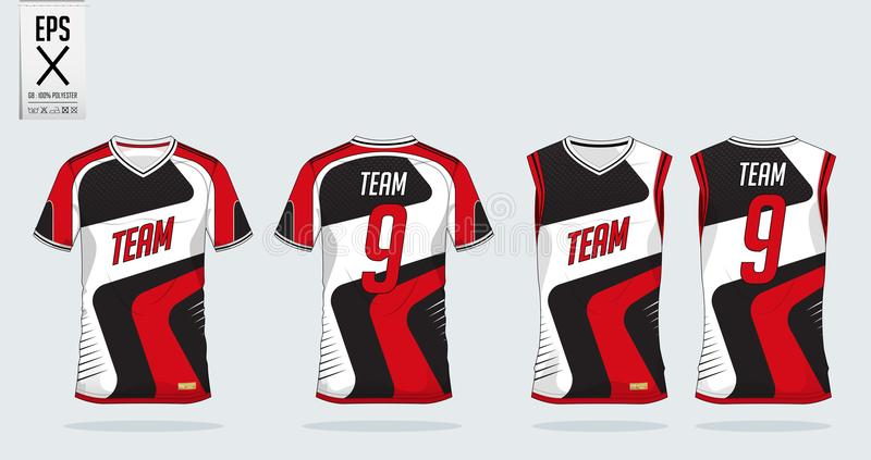 T-shirt Sport Design Template For Soccer Jersey, Football Kit And