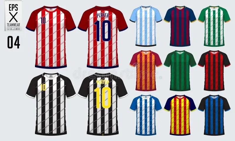 T-shirt Sport Design Template For Soccer Jersey, Football Kit, Tank