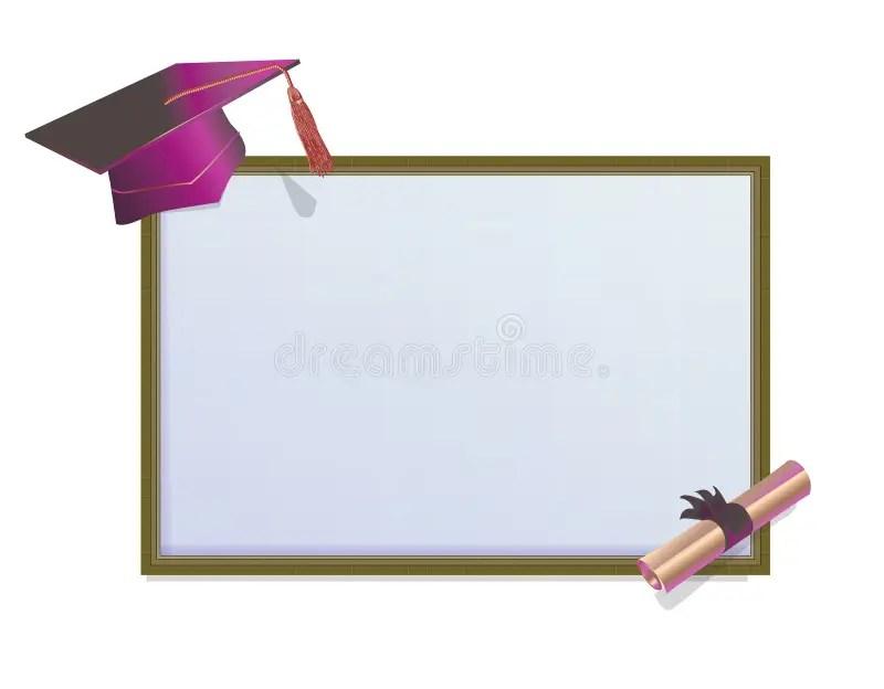 Tarjeta De La Invitación De La Graduación Con Los Morteros
