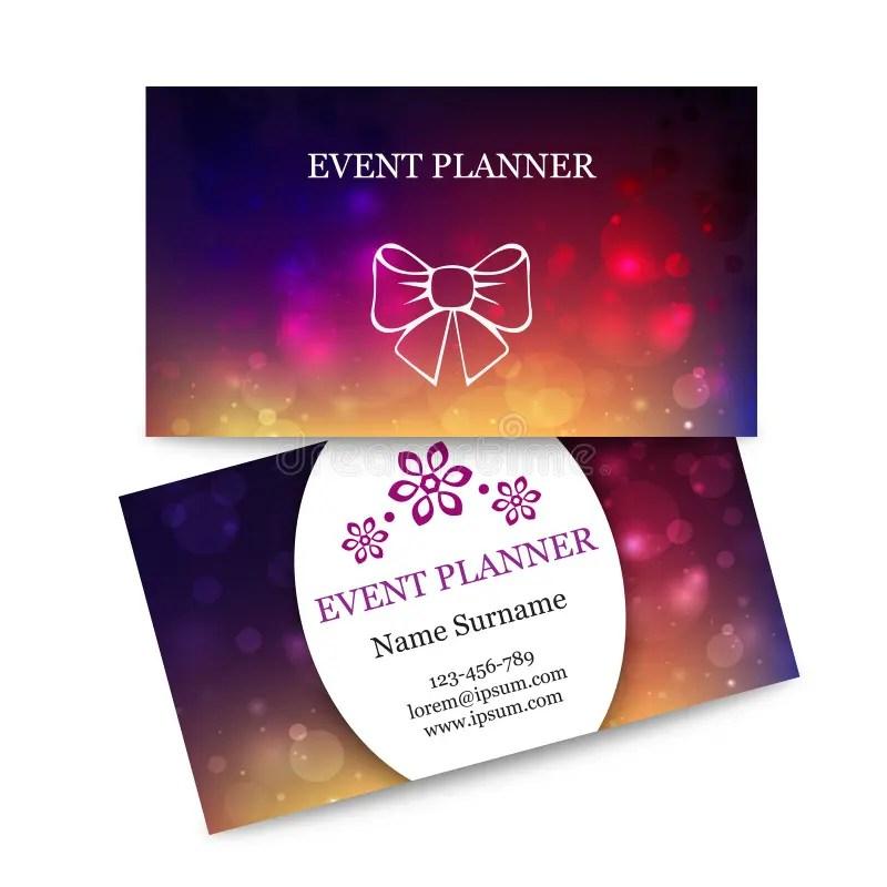 Tarjetas De Visita Coloridas De La Plantilla Para El Planificador De