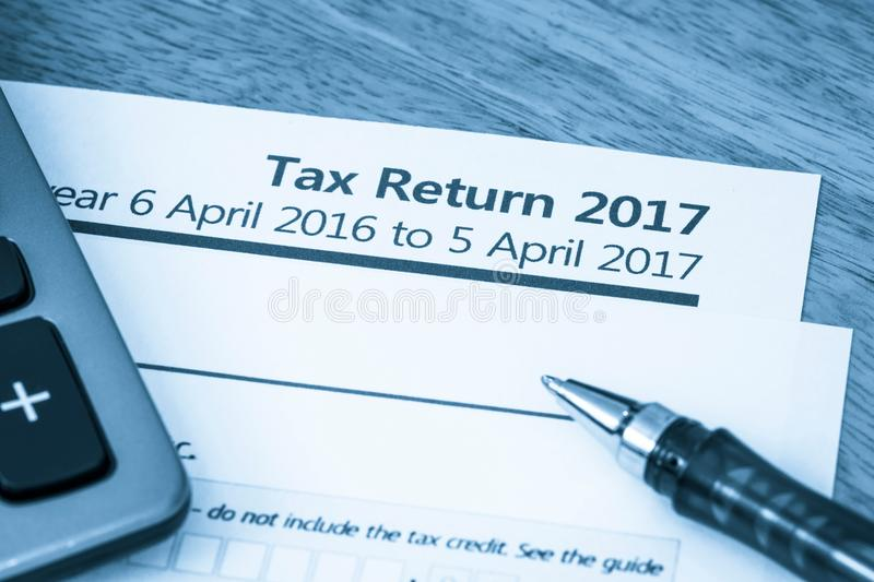 Tax return form 2017 stock image Image of assessment - 86198079