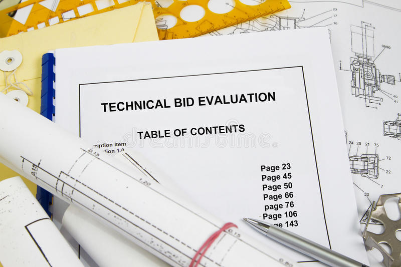 Technical Bid stock image Image of technical, guide - 91146839