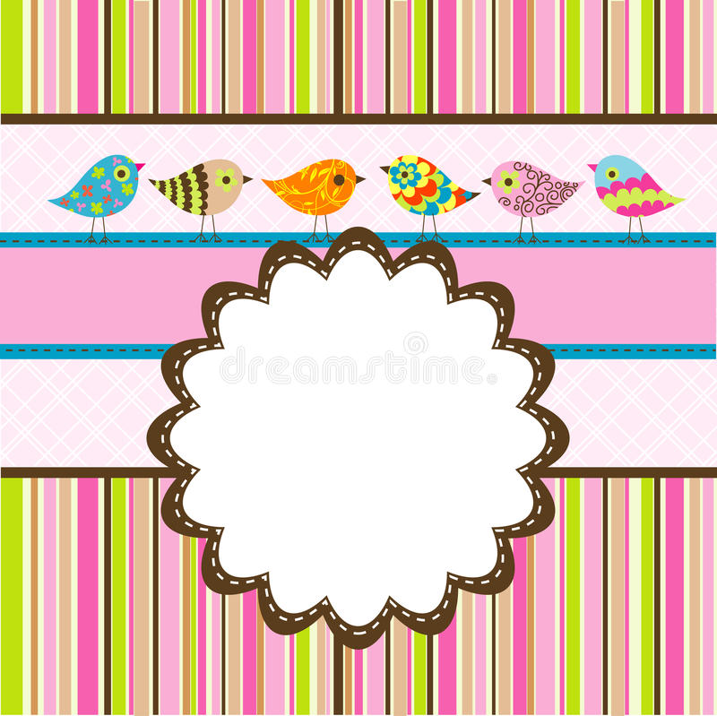 Template Birthday Greeting Card Stock Vector - Illustration of - template for a birthday card