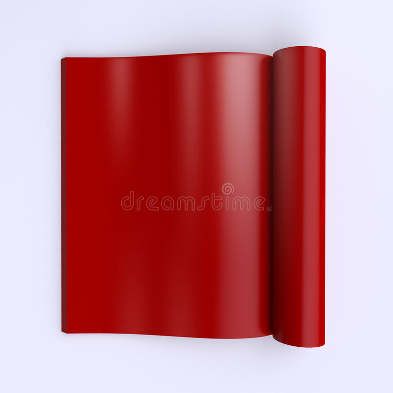 Template Blank Pages Of An Open Journal, Newspapers Or Books Stock