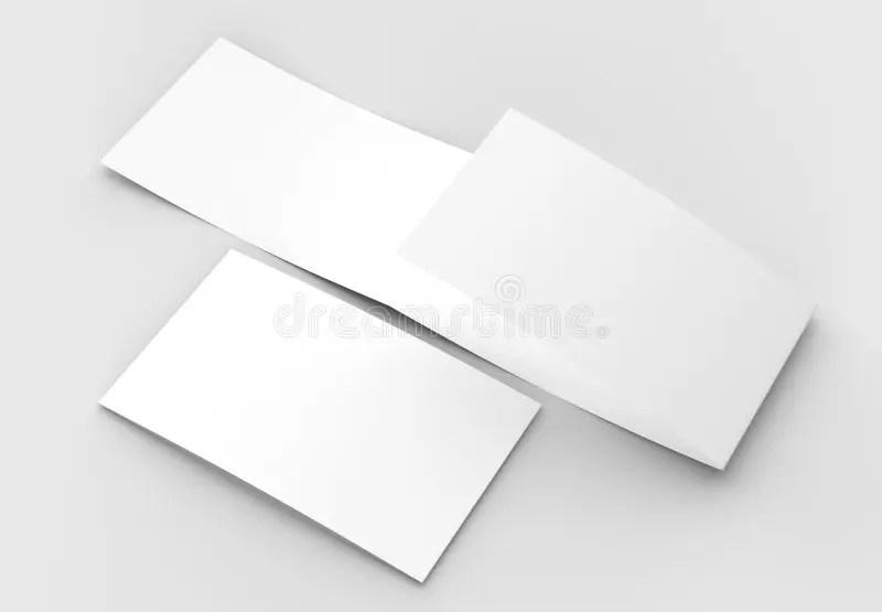Template Of Blank Three Fold Horizontal - Landscape Brochure Moc