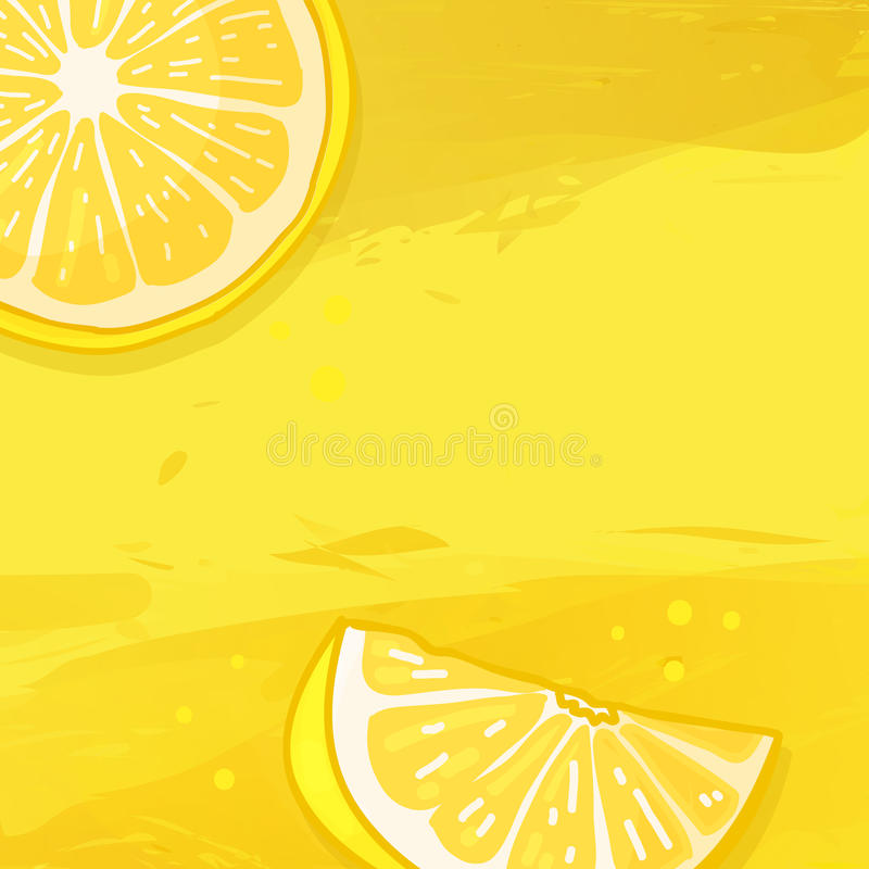 Template Design Banner Background With Lemon Fruit The Back With A