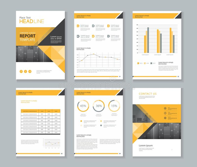 Template Design For Company Profile ,annual Report , Brochure - annual report template design