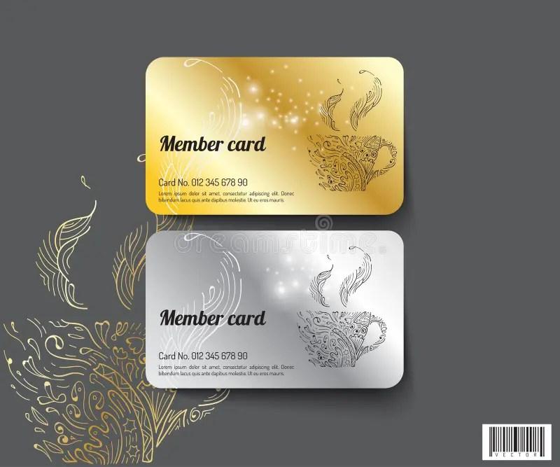 Template Design Member Card Vector File Stock Vector - Illustration - membership cards design
