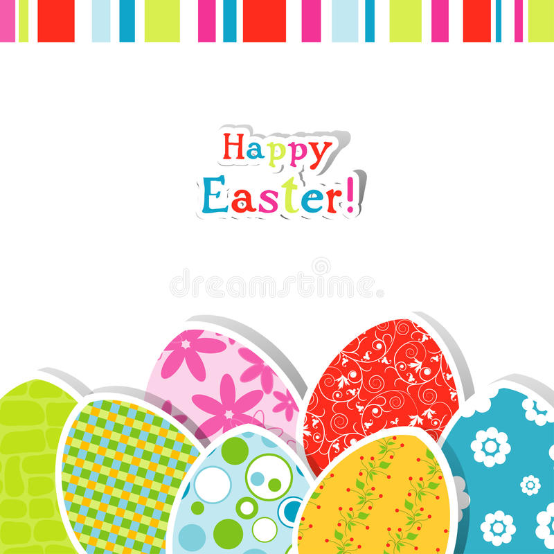 Template Easter Greeting Card Stock Vector - Illustration of - easter greeting card template