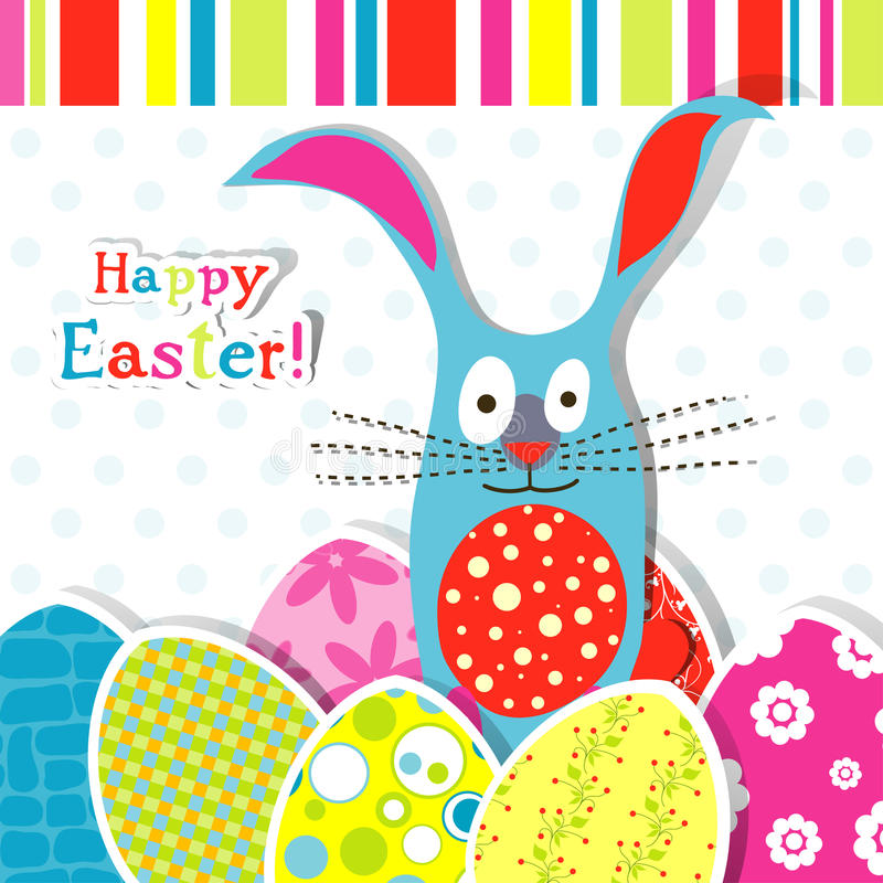 Template Easter Greeting Card Stock Vector - Illustration of stripe - easter greeting card template