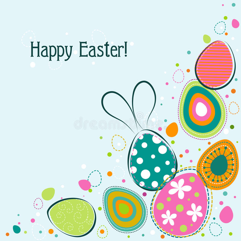 Template Easter Greeting Card, Vector Stock Vector - Illustration of - easter greeting card template