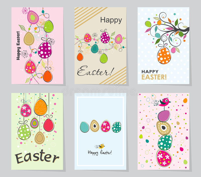 Template Easter Greeting Card, Vector Illustration Stock Vector