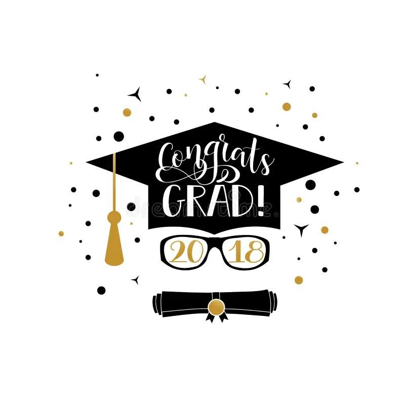 Congrats Grad 2018 Lettering Congratulations Graduate Banner - congratulation graduation