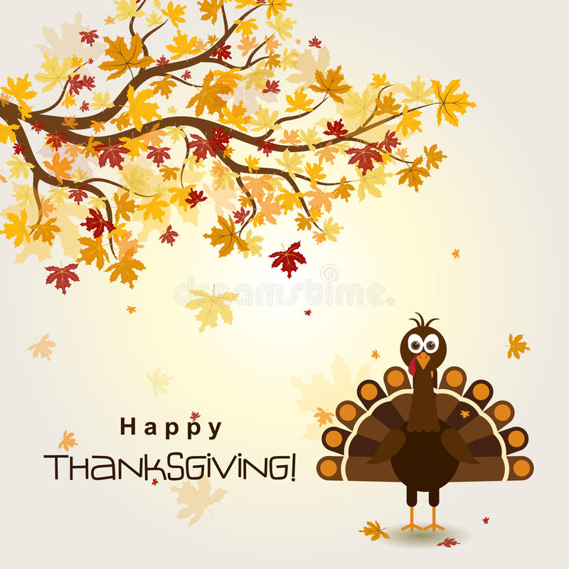 Free Fall Harvest Wallpaper Template Greeting Card With A Happy Thanksgiving Turkey