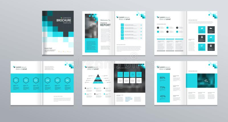 Template Layout Design With Cover Page For Company Profile ,annual - Presentations Template