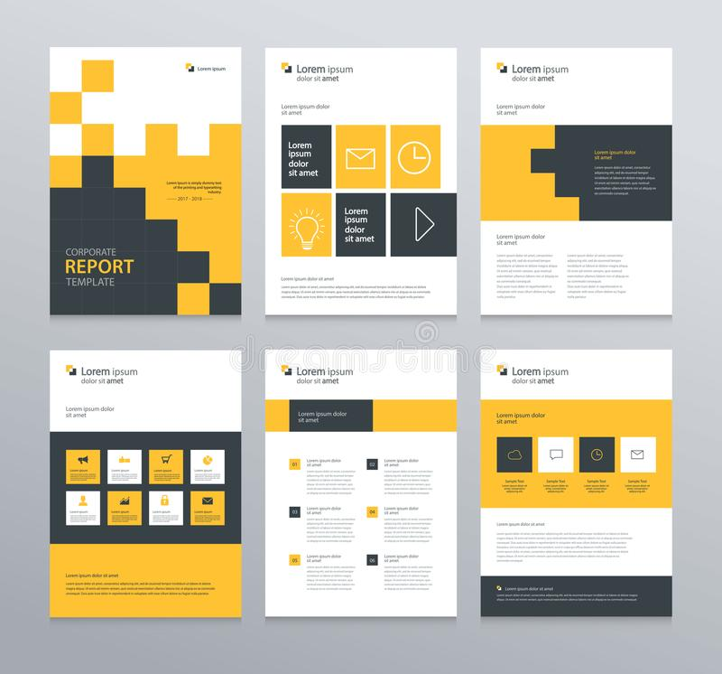 Template Layout Design With Cover Page For Company Profile ,annual
