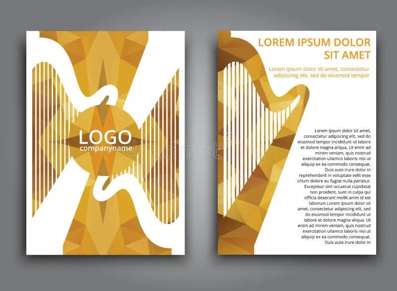 Template Music Polygonal Brochure Stock Vector - Illustration of - music brochure