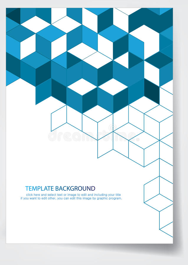 Template Report Cover Design Stock Vector - Illustration of brochure - template for a report