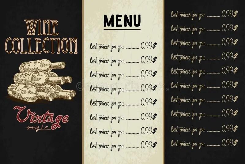 Template For Restaurant Menu Stock Vector - Illustration of food - menu list sample