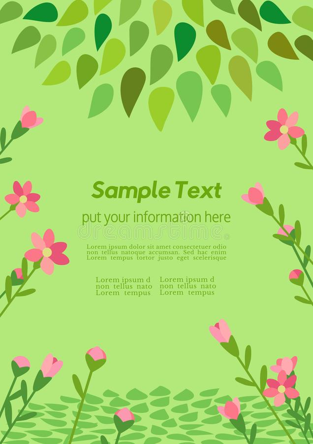Template Spring flyer stock vector Illustration of card - 111429835 - spring flyer template