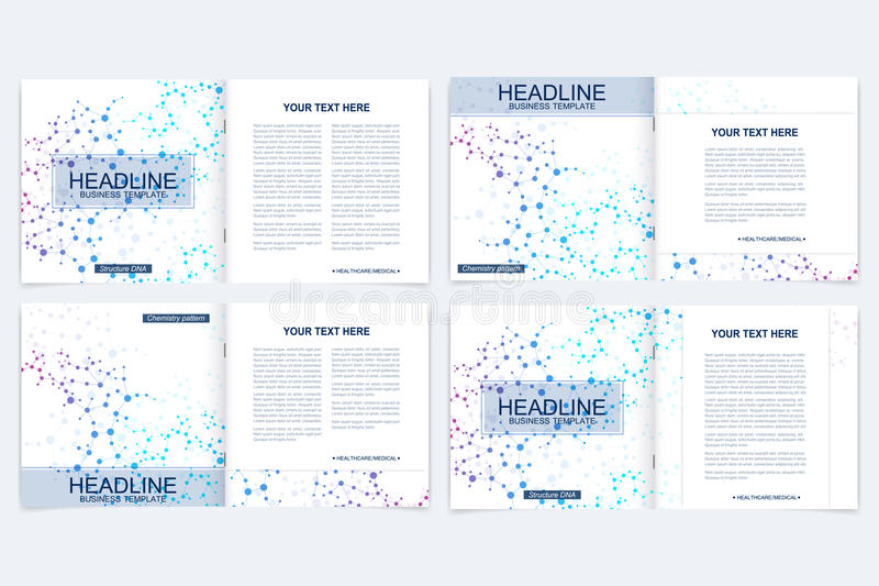 Templates For Square Brochure Leaflet Cover Presentation Business
