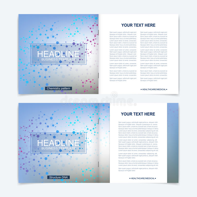 Templates For Square Brochure Leaflet Cover Presentation Business - scientific templates