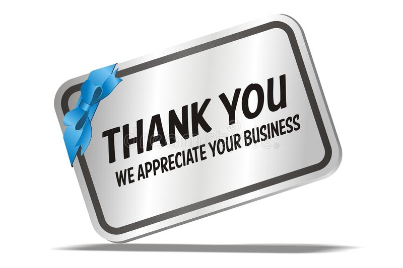 Thank You We Appreciate Your Business - Silver Card Stock