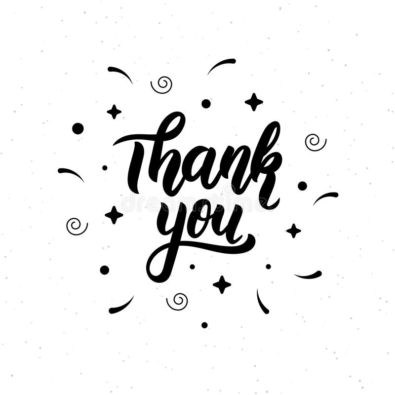 Thank You Trendy Hand Lettering Quote, Fashion Graphics, Art Print