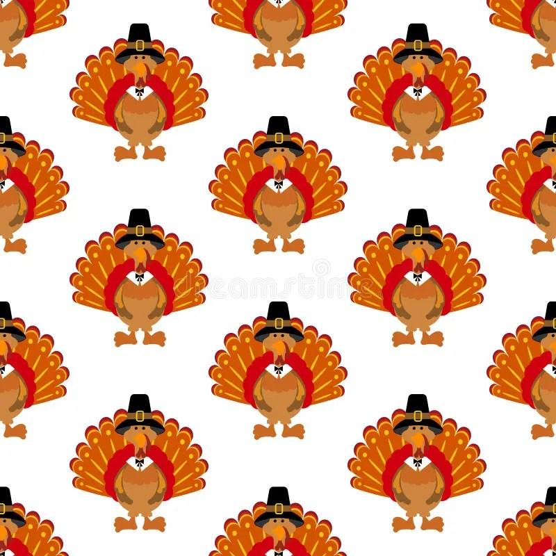 Free Fall Harvest Wallpaper Thanksgiving Turkey Pattern Stock Vector Illustration Of