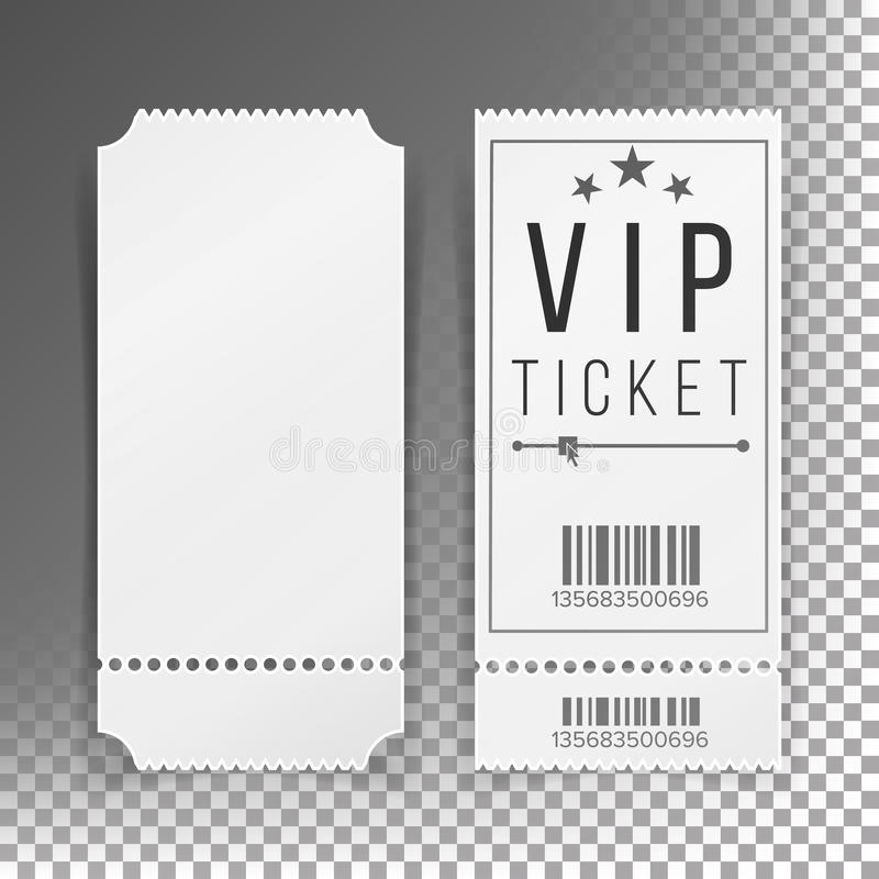 Ticket Template Set Vector Blank Theater, Cinema, Train, Football - blank tickets template