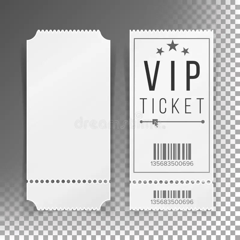 Ticket Template Set Vector Blank Theater, Cinema, Train, Football