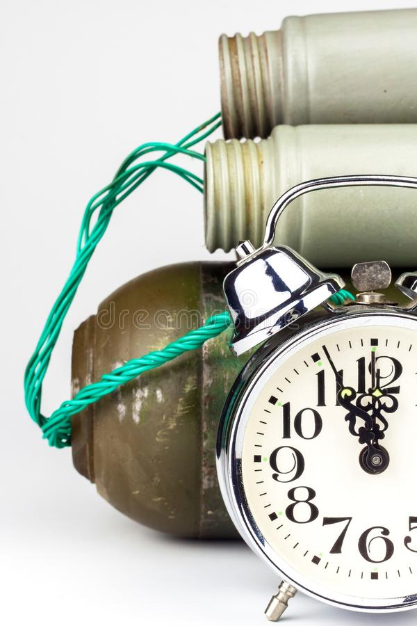 Terrorist With Grenade Stock Photo Image Of Evil Danger - Online Alarm Clock Bomb