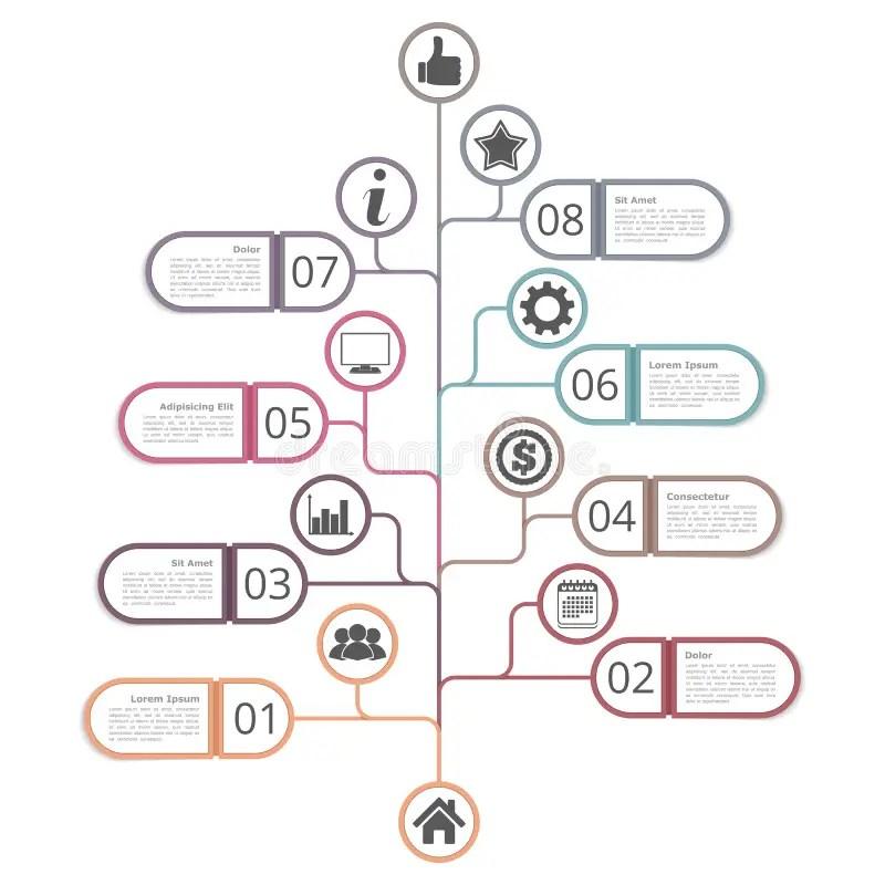 Tree Diagram Template stock vector Illustration of flat - 63677850