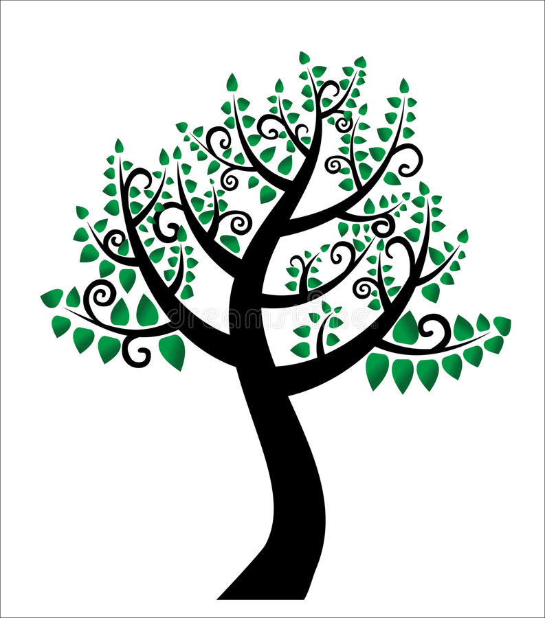 The Tree Of Life, Family Tree Stock Vector - Illustration of line