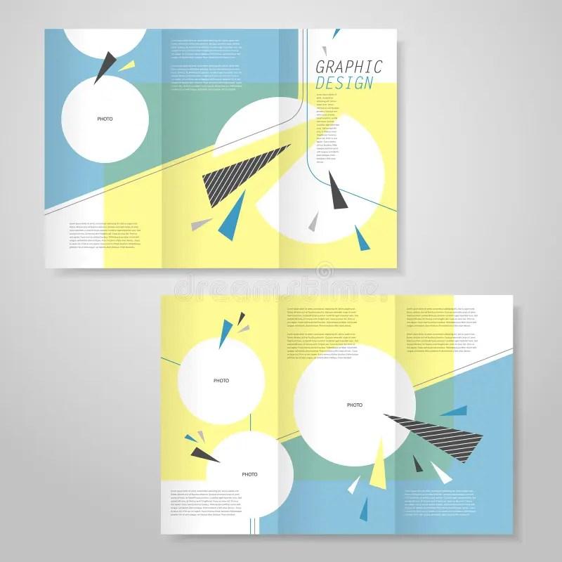 Trendy Tri-fold Brochure Template Design Stock Vector - Illustration