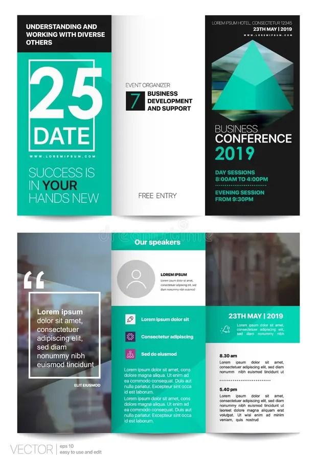 Tri Fold Business Brochure Creative Corporate Business Template For - tri fold business brochure