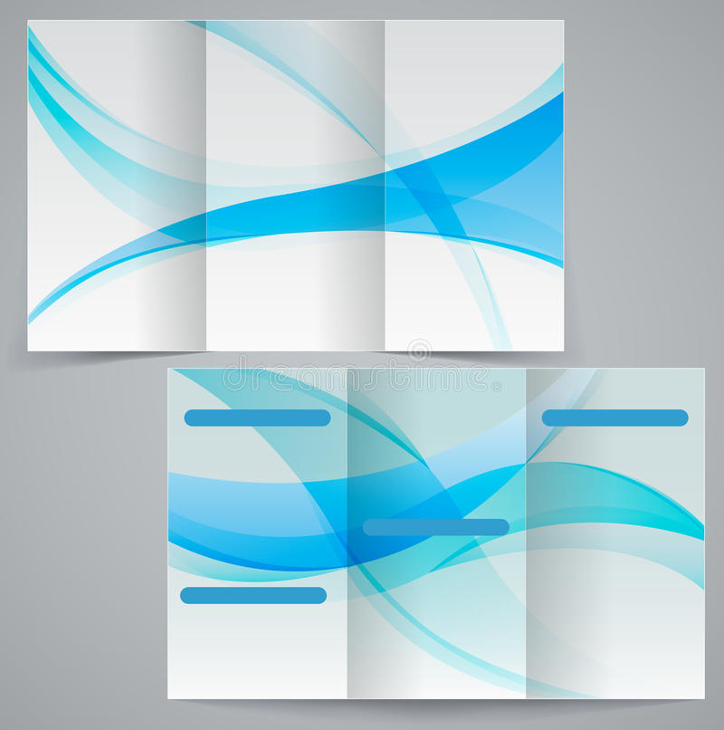 Tri-fold Business Brochure Template, Vector Blue D Stock Vector - phamplet template