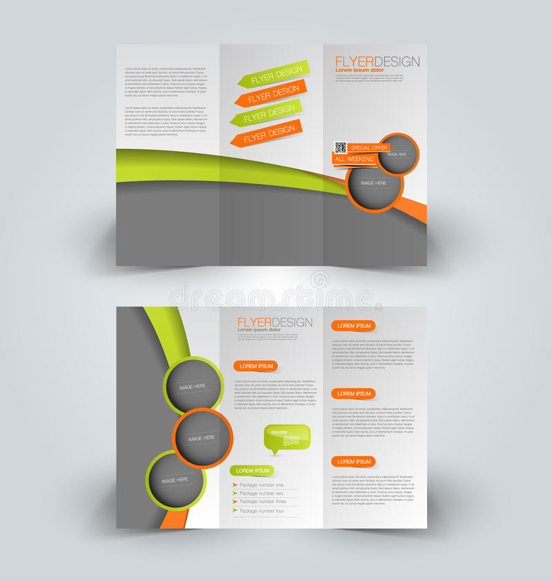 Trifold Business Brochure Leaflet Template Stock Vector - tri fold business brochure