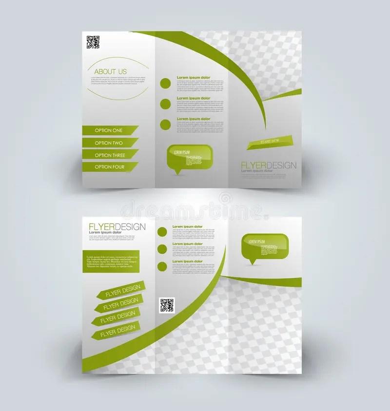 Trifold Business Brochure Leaflet Template Stock Vector - leaflet template
