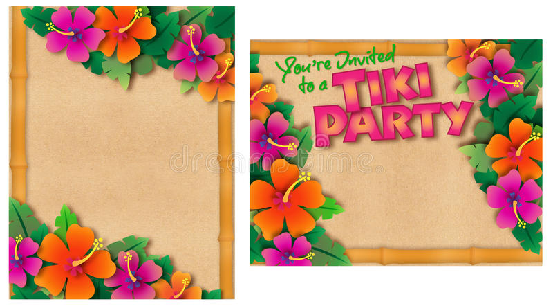 Tropical Party Invitation stock illustration Illustration of