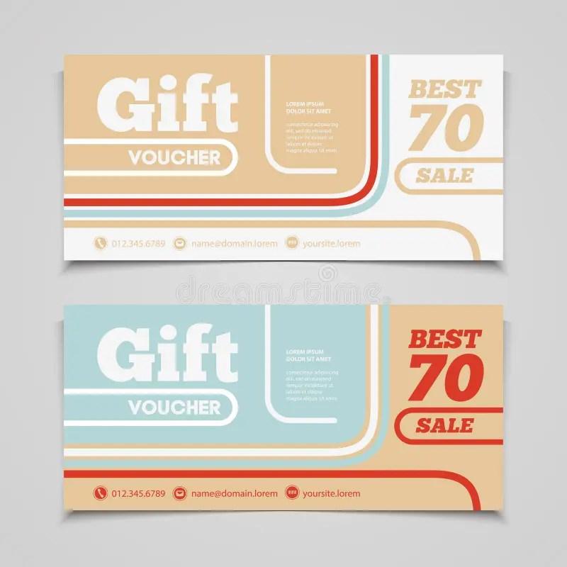 Two Coupon Voucher Design Gift Voucher Template With Amount Of - coupon voucher template