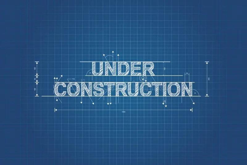Under Construction Blueprint, Technical Drawing Stock Vector - fresh blueprint travel agency