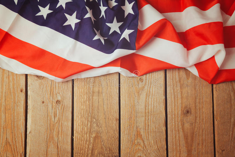 United States Of America Flag On Wooden Background 4th Of July - America Flag Background