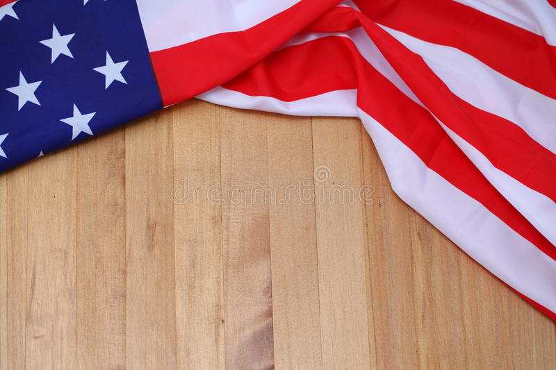 USA Flag On Brown Wooden Board America Flag Background  Stock - America Flag Background