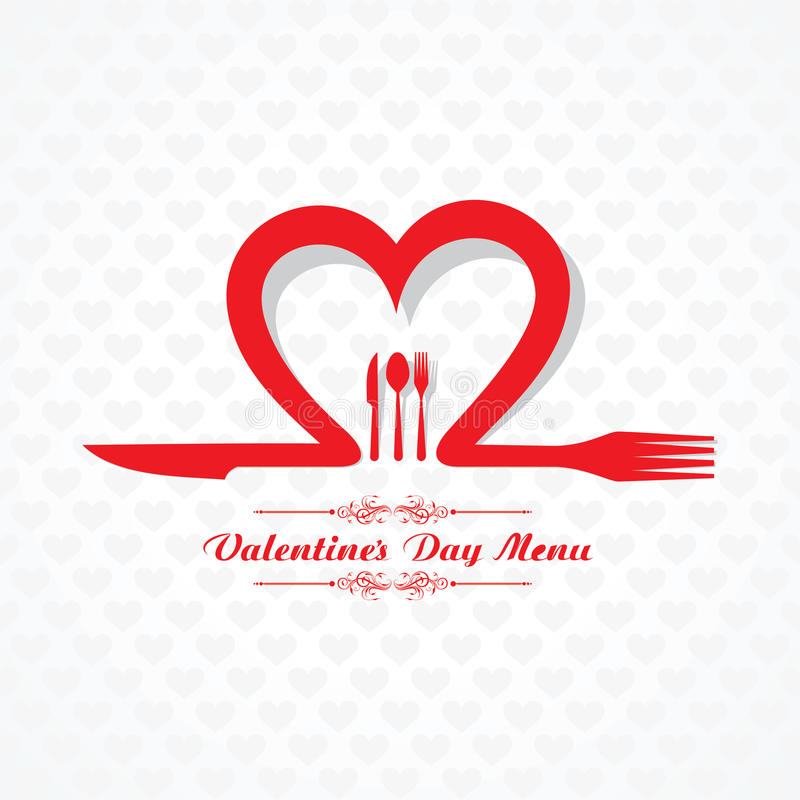 Valentine Day Restaurant Menu Card Design Stock Vector - valentines day menu template