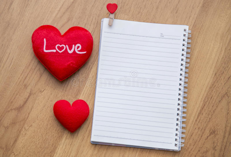 Valentine\u0027s Day Background With Hearts And Note Blank Stock Photo