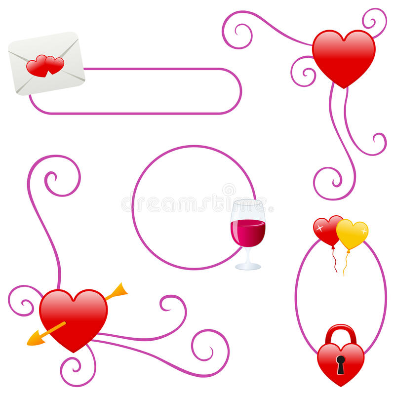 Valentine S Day Or Love Borders Stock Vector - Illustration of