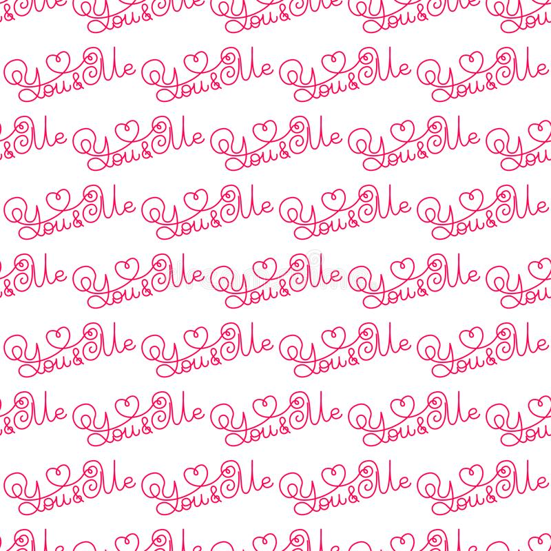 Valentines Day Romantic Phrases Seamless Pattern Background